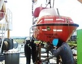 IMPROVING SAFETY AT SEA - LIFEBOATS, DAVITS, CRANES SURVEYS AND LOAD TEST UP TO 200 TONS