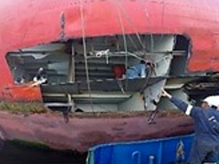 Afloat Steel Repairs after Collision