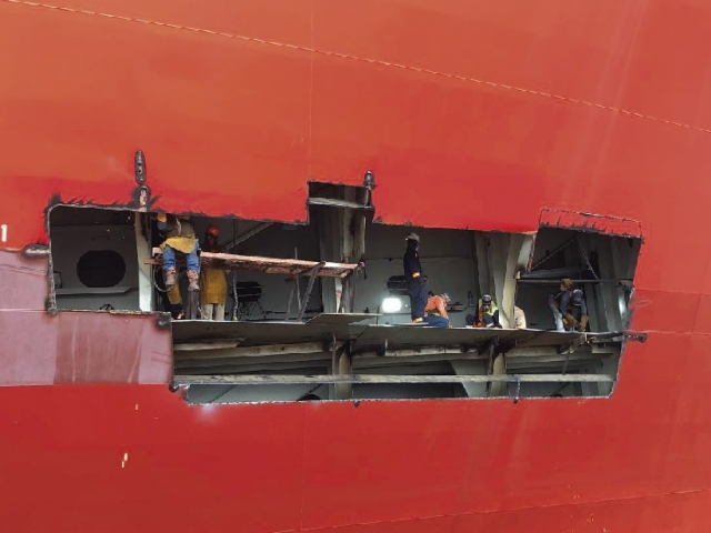 COLLISION DURING BERTHING MANEUVERS AT THE PORT OF CRISTOBAL